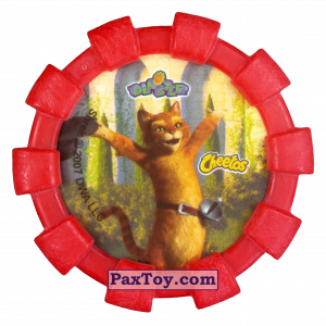 PaxToy.com - 19 Шрек, Осел и Кот в сапогах (Резиновый бампер) (Сторна-back) из Cheetos: Shrek (Blaster)
