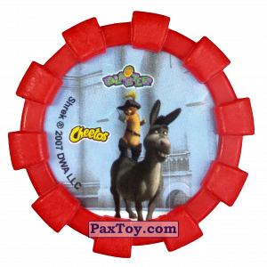 PaxToy.com - Фишка / POG / CAP / Tazo 20 Кот в сапогах (Резиновый бампер) (Сторна-back) из Cheetos: Shrek (Blaster)