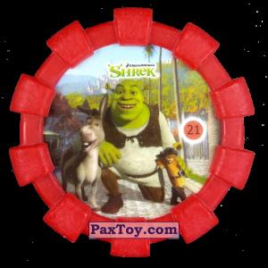 PaxToy.com - 21 Шрек, Осел и Кот в сапогах (Резиновый бампер) из Cheetos: Shrek (Blaster)