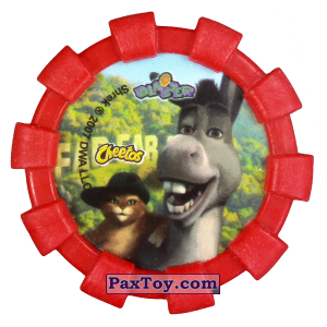 PaxToy.com - 22 Кот в сапогах (Резиновый бампер) (Сторна-back) из Cheetos: Shrek (Blaster)