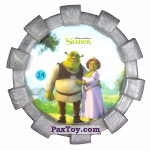 PaxToy.com - 24 Шрек и Фиона (Резиновый бампер) из Cheetos: Shrek (Blaster)