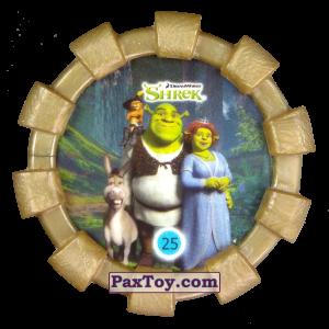 PaxToy.com - 25 Шрек, Фиона Осел и Кот в сапогах (Резиновый бампер) из Cheetos: Shrek (Blaster)