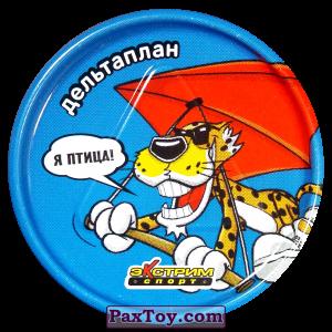 PaxToy.com  Игровая еденица, Фишка / POG / CAP / Tazo 31 Дельтаплан - Металлическая фишка из Cheetos: Экстрим спорт (железные)
