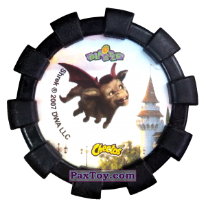 PaxToy.com - Фишка / POG / CAP / Tazo 39 Дракон (Резиновый бампер) (Сторна-back) из Cheetos: Shrek (Blaster)