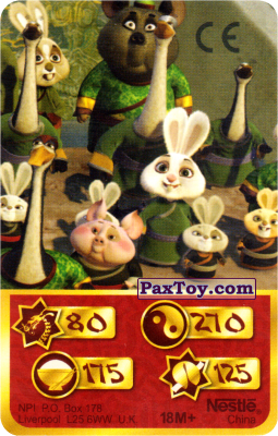 PaxToy.com  Карта, Карточка / Card 80 Скорость Дракона - Mop Bunny, Mr. Ping, Happy Bunny, Bunny Fan, Dumpling Bunny из Kosmostars: Карты «Кто Сильнее?»