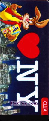 PaxToy.com  Наклейка / Стикер 22 США - Кролик Квики из Nesquik: Страны