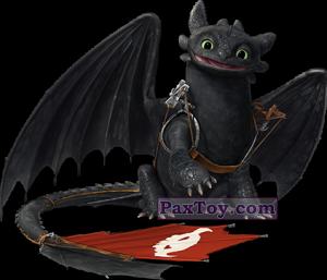 PaxToy.com - 02 Беззубик - Как приручить дракона (Сторна-back) из Магнит: Маленькие герои ищут друзей