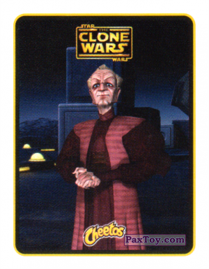 PaxToy.com  Наклейка / Стикер 12 Канцлер Палпатин из Cheetos: Clone Wars - Star Wars
