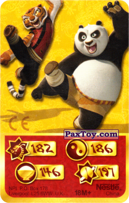 PaxToy.com - 182 Скорость Дракона - Tigress, Po Panda из Kosmostars: Карты «Кто Сильнее?»