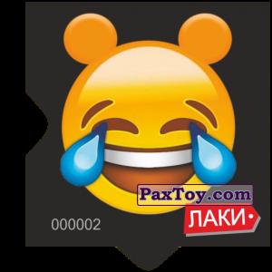 PaxToy.com - Магнит Смайлик (Emoji) #2 - Ушастый лаки смеётся до слез из Чипсы ЛАКИ - ЛАКИМАНИЯ