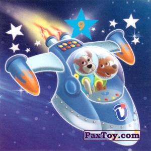 """PaxToy.com - 09 БЕЛКА И СТРЕЛКА из Растишка: Магниты из серии """"Изучай космос"""""""