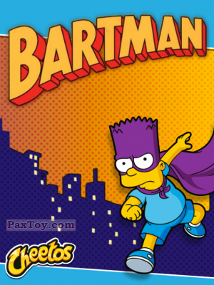 PaxToy The Simpsons Наклейки Bartman 2015 tax logo 2