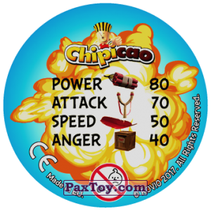 PaxToy.com - 04 RED ALERT (Сторна-back) из Chipicao: Angry Birds 2017