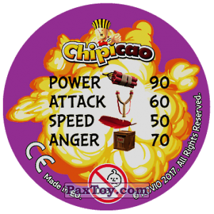 PaxToy.com - 12 DONT WORRY BE ANGRY (Сторна-back) из Chipicao: Angry Birds 2017