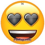 PaxToy.com - 14 Черные влюбленные глаза Смайлика из Chipicao: EMOJI