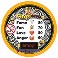 PaxToy.com - 14 Черные влюбленные глаза Смайлика (Сторна-back) из Chipicao: EMOJI