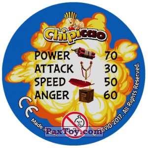 PaxToy.com - 18 Chuck and Red and Bomb (Сторна-back) из Chipicao: Angry Birds 2017