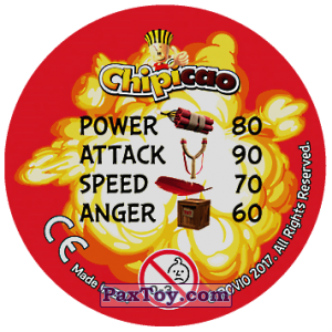 PaxToy.com - 25 RAGE TIME (Сторна-back) из Chipicao: Angry Birds 2017
