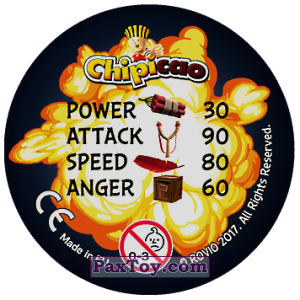 PaxToy.com - 26 AVALANCHE OF ANGRY (Сторна-back) из Chipicao: Angry Birds 2017