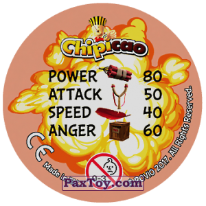 PaxToy.com - 30 BORN TO BE ANGRY (Сторна-back) из Chipicao: Angry Birds 2017