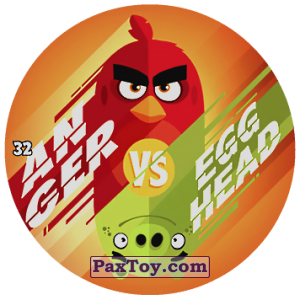PaxToy.com - 32 AN GER VS EGG HEAD из Chipicao: Angry Birds 2017