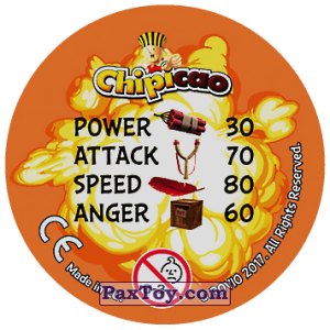 PaxToy.com - 32 AN GER VS EGG HEAD (Сторна-back) из Chipicao: Angry Birds 2017