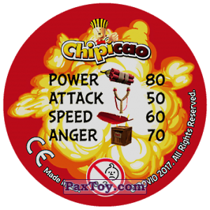 PaxToy.com - 34 EEING RED (Сторна-back) из Chipicao: Angry Birds 2017