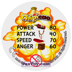 PaxToy.com - 36 HIPPIE CHICK (Сторна-back) из Chipicao: Angry Birds 2017