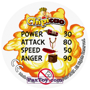 PaxToy.com - 43 CHUCK TIME! (Сторна-back) из Chipicao: Angry Birds 2017