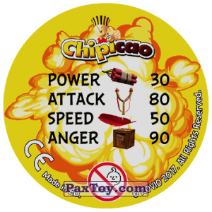 PaxToy.com - 44 ANGRY BIRDS (Сторна-back) из Chipicao: Angry Birds 2017