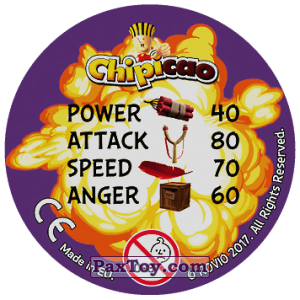 PaxToy.com - 50 Royal FOOL (Сторна-back) из Chipicao: Angry Birds 2017