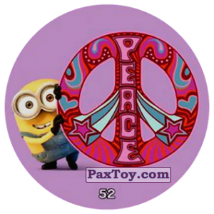 PaxToy.com  Фишка / POG / CAP / Tazo 52 PEACE из Chipicao: Minions