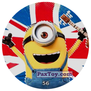 PaxToy.com  Фишка / POG / CAP / Tazo 56 HELLO London! из Chipicao: Minions