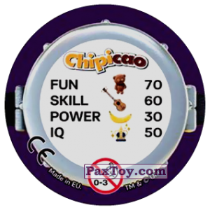 PaxToy.com - Фишка / POG / CAP / Tazo 62 ONE IN A MINION (Сторна-back) из Chipicao: Minions