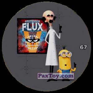 PaxToy.com  Фишка / POG / CAP / Tazo 67 PROFESSOR FLUX из Chipicao: Minions