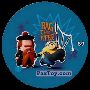 PaxToy.com  Фишка / POG / CAP / Tazo 69 BAG THE PIPES! из Chipicao: Minions