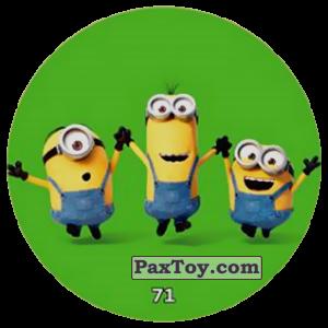 PaxToy.com  Фишка / POG / CAP / Tazo 71 HAPPY MINIONS (METAL) из Chipicao: Minions