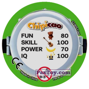 PaxToy.com - Фишка / POG / CAP / Tazo 71 HAPPY MINIONS (METAL) (Сторна-back) из Chipicao: Minions