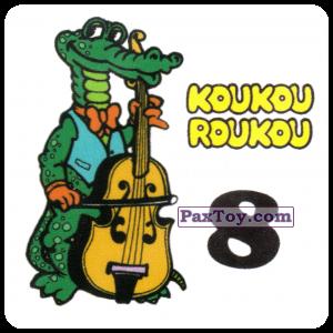 PaxToy.com - 08 Crocodile with a contrabass - Крокодил с контрабасом из Koukou Roukou: Наклейки с Животными от Вафель (Россия)