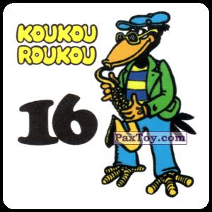 PaxToy.com - 16 The crow saxophonist - Ворона саксофонист из Koukou Roukou: Наклейки с Животными от Вафель (Россия)