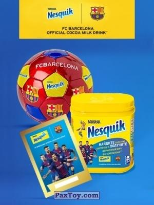 PaxToy Nesquik: Карточки с игроками ФК «Барселона»