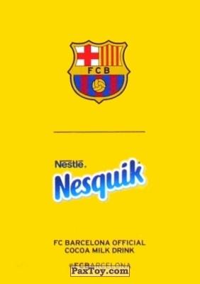 PaxToy.com - 1 А. ИНЬЕСТА (A. INIESTA) (Сторна-back) из Nesquik: Карточки с игроками ФК «Барселона»