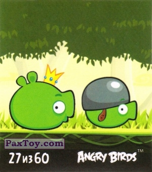 PaxToy.com - 27 из 60 King Pig and Corporal Pig из Cheetos: Stickers Angry Birds 2