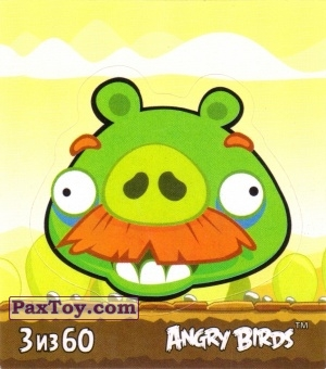 PaxToy.com - 3 из 60 Moustache Pig из Cheetos: Stickers Angry Birds 2