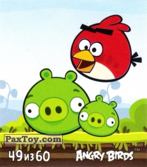 PaxToy.com - 49 из 60 Red and Pigs из Cheetos: Stickers Angry Birds 2