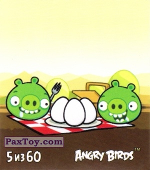 PaxToy.com - 5 из 60 Pigs and Eggs из Cheetos: Stickers Angry Birds 2