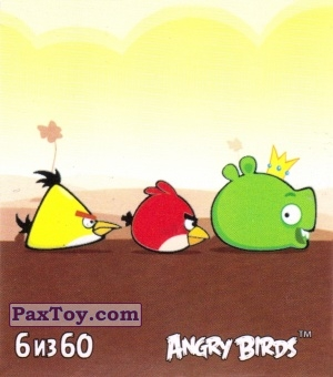 PaxToy.com - 6 из 60 Angry Birds Chase Pigs из Cheetos: Stickers Angry Birds 2