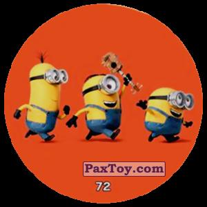 PaxToy.com  Фишка / POG / CAP / Tazo 72 HAPPY MINIONS (METAL) из Chipicao: Minions