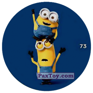 PaxToy.com  Фишка / POG / CAP / Tazo 73 HAPPY TWO MINIONS (METAL) из Chipicao: Minions