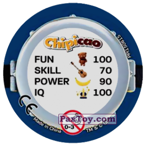 PaxToy.com - Фишка / POG / CAP / Tazo 73 HAPPY TWO MINIONS (METAL) (Сторна-back) из Chipicao: Minions